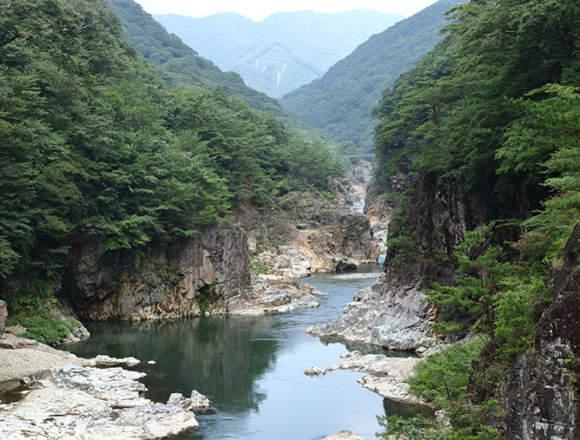 龍王峡の風景