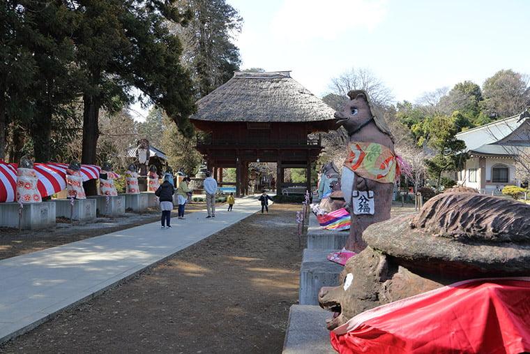 茂林寺の境内