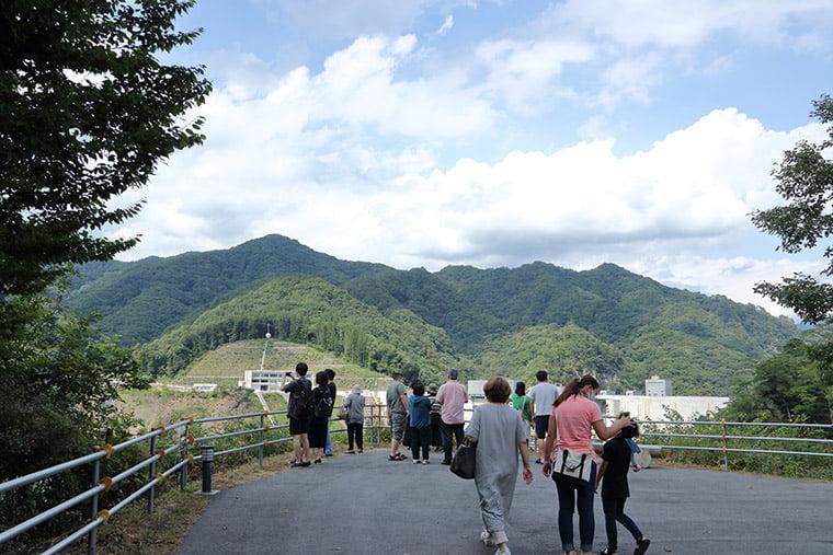八ッ場ダム右岸展望台の風景