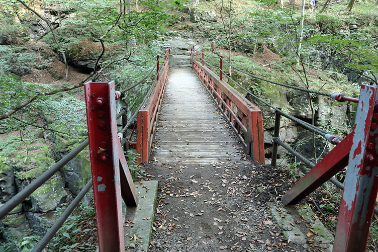 吾妻峡の鹿飛橋