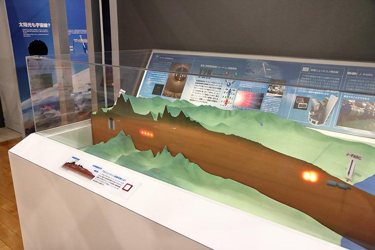 ニュートリノ振動実験の展示