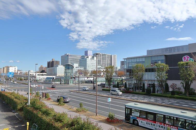 筑波研究学園都市の街並み