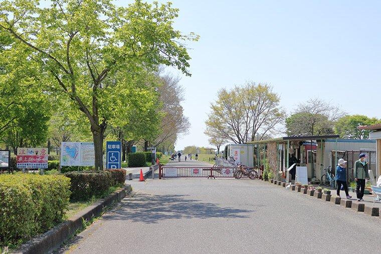 渡良瀬遊水地 こども広場のゲート