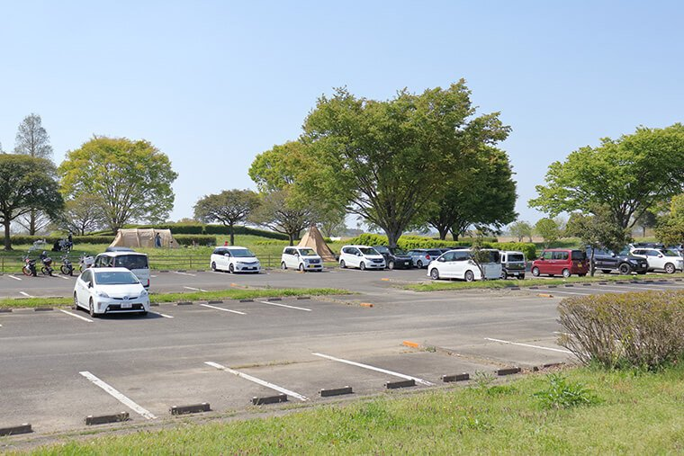 渡良瀬遊水地の駐車場