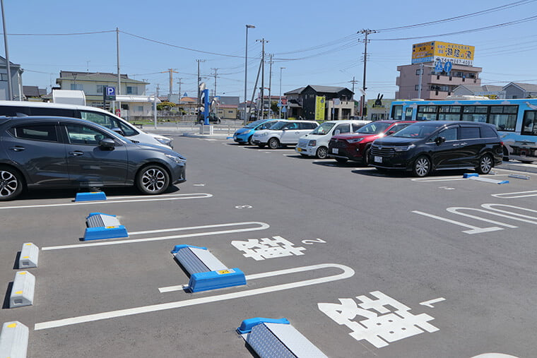 大洗駅の駐車場