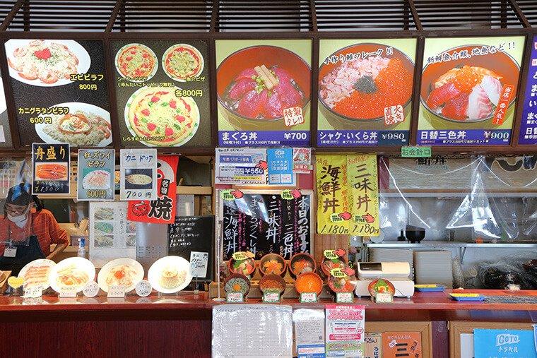 フードコートの海鮮丼屋