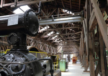 鉱山資料館の館内