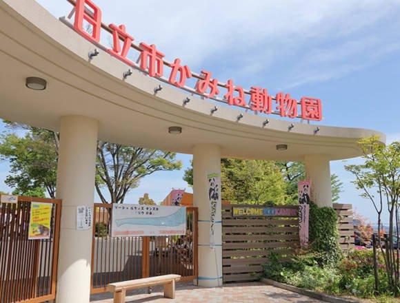 日立市かみね動物園の入場ゲート