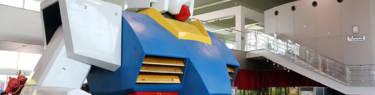 実物大のガンダムの胸像