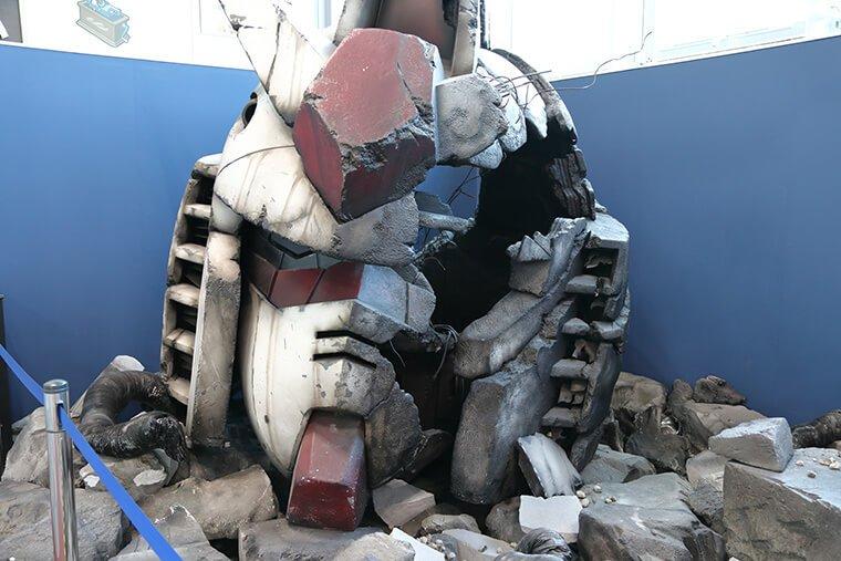 実物大 RX-78-2 ガンダムヘッドの展示