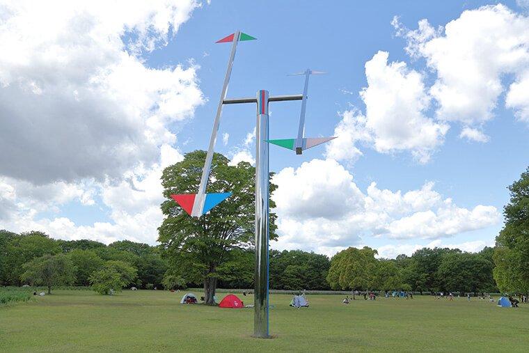 風の原っぱの風車