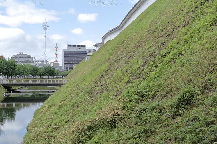 宇都宮城の堀や土塁