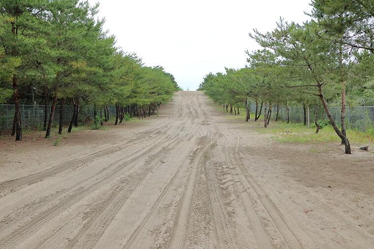 村松晴嵐の砂浜