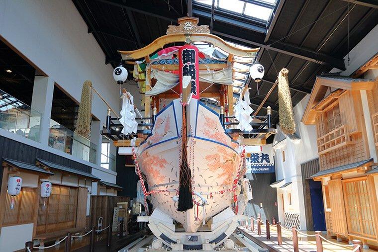 常陸大津の御船祭りの祭事船