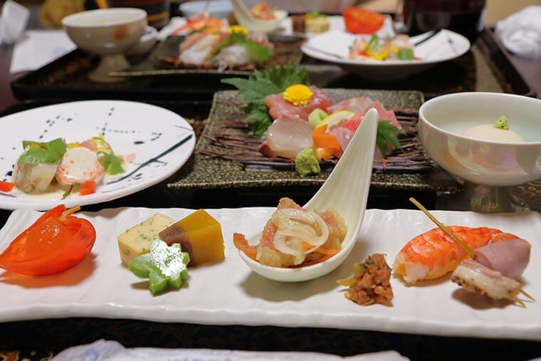 北茨城の旅館の料理